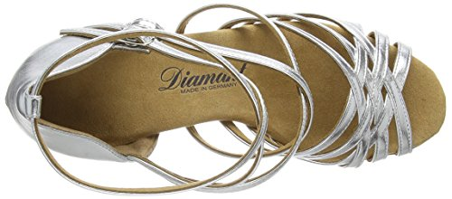 Diamant Diamant Latein Damen Tanzschuhe – Standard Latein Silber 108-087-013 - 7