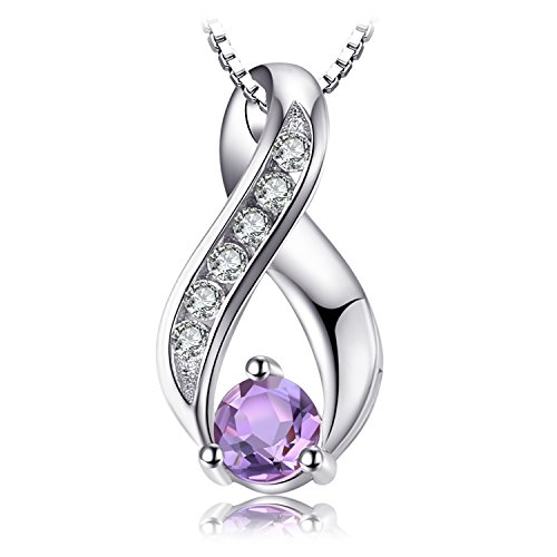 JewelryPalace 0.3ct Genuine Amethyst Jahrestag Anhänger 925 Sterling Silber