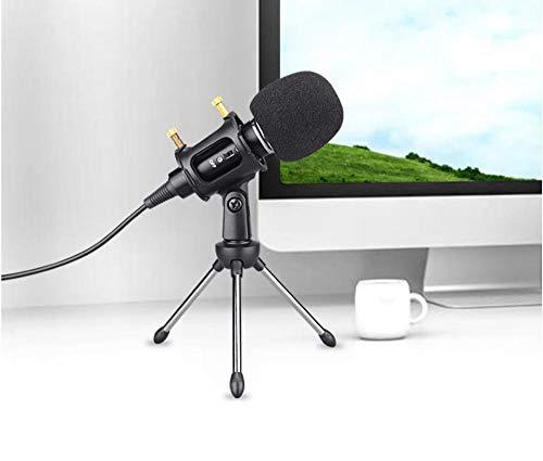 TAOYUN Microfoni Streaming Grabación Estudio Omnidireccional Condensador Filtro Sobremesa Estudio Altavoz Canto Hogar Computadora Móvil Universal Escritorio Chat Micrófono