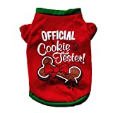 BT Bear® Pet Chrstmas Clothes Soft Cotton Christmas Dog Clothes Winter Warm T-shirt Costume for Cats Puppy Small Dogs (Small, Red)