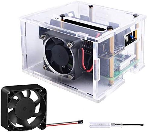 GeeekPi New York Mall Raspberry Pi 4 X725 Acrylic Case 40x40x10mm with 4010 Luxury goods Fa