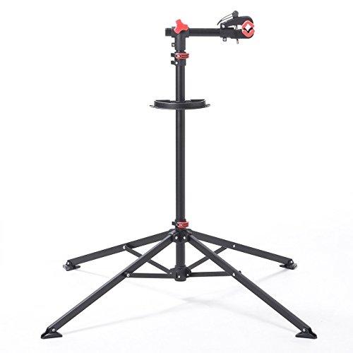 サンワダイレクト 自転車 メンテナンススタンド 高さ調節 118~200cm 工具トレー付 ディスプレイスタンド 8...