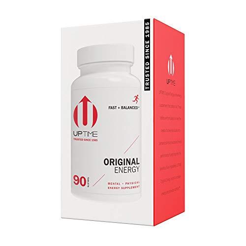 UPTIME - Premium Energy Caffeine Supplement - Original Blend Tablets - 90ct Bottle - Zero Calories