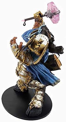 KLEDDP Spielzeug-Modellspielfiguren WOW World of Warcraft Andenken Sammlerstücke Kunsthandwerk Geschenke Draenei Paladin 24cm Spielzeugstatue