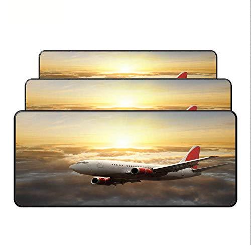HONGHUAHUI Vliegtuig Vlieg Reizen Mooie Computer Grote Muis Pad Gaming Laptop Tafelmat Gift 300X600X2MM A01