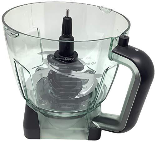 Ninja 64oz (8 Cup) Food Processor Bowl with Blade Attachment for BL770 BL770A BL770W BL771 BL771A BL771C BL772 BL772Q BL780 BL780CO Mega Kitchen System Blender