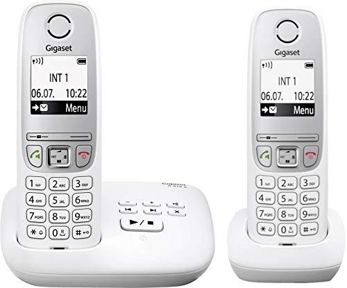 Gigaset A415A DUO WEISS mit Anrufbeantworter inkl. 2 Mobilteilen (A415A Duo)