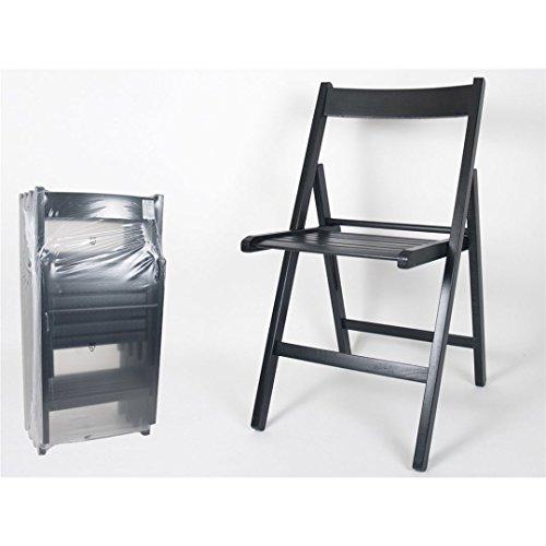 Chaise pliante en bois Couleur Noir (prix par unité)