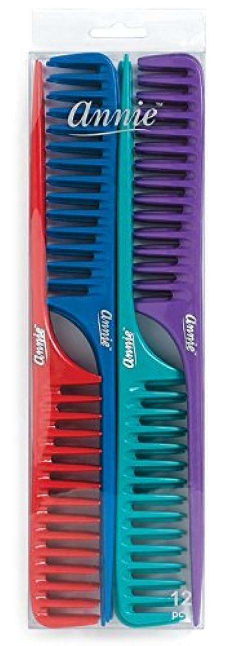 そよ風ウミウシ崩壊Annie Large Tail Comb Set, 12 Count [並行輸入品]