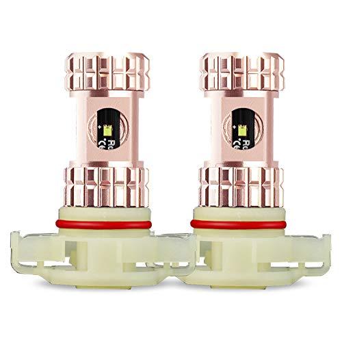 JDM ASTAR AEC Chips 2504 All-in-One LED Fog Light Bulbs, Xenon White