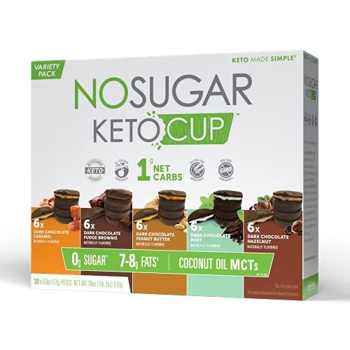 No Sugar Keto Cups Variety Pack - 30 Cups by No Sugar Company