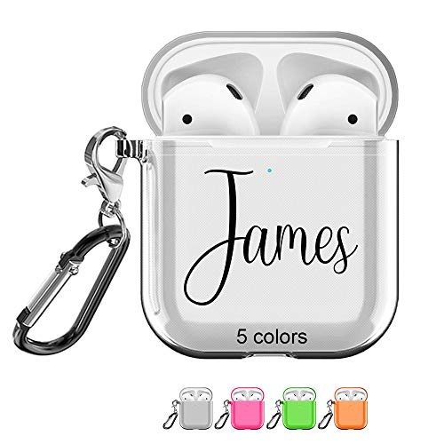 SHUMEI Custom Name AirPods Case for Apple AirPod 2 and 1, Personalized Gift Shock Absorption Soft...