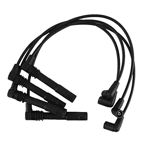 XIAOLU LUYONGQIANG Cable de Encendido Kit de Cables Cable de bujía 036905409K Fit para Bora Golf 4 1J Lupo 6X 6e 1.4 + 1.6 Accesorios para automóviles (Color : Black)