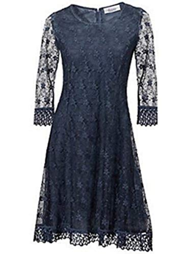 Kleid Spitzenkleid von Linea Tesini in Nachtblau - Gr. 40