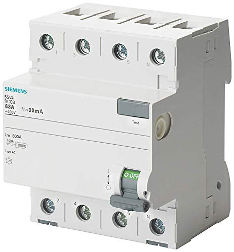 Siemens 5sv - Interruptor diferencial 5sv clase-ac 4 polos 40a 300ma 70mm