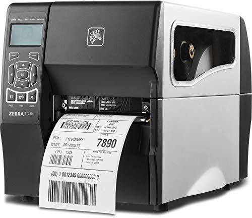 Zebra Technologies zt230–Stampante di etichette (trasferimento termica, 203x 203dpi, 152mm/sec, LCD, parallelo, Wireless LAN, fili) Nero, colore: bianco