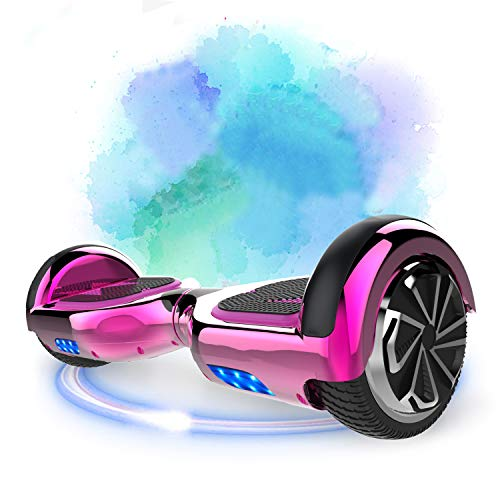 SOUTHERN-WOLF Hoverboard Self-Balancing Scooter, 6,5zoll Hover Scooter Board Bluetooth Scooter mit bunten Lichter Bluetooth eingebaute Geschenk für z29 (Rose red)
