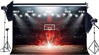 HDビニール10x7ftバスケットボールコート背景スタジアム群衆ボケグリッターステージライトぼろぼろのフローリングインテリア3D写真背景男の子スポーツマッチスクールゲーム写真スタジオ小道具448