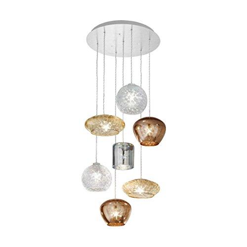 Fantasia Specchio Glas Deckenleuchte Kolarz-Leuchten in Weiß matt braun beige multicolour | Handgefertigt in Italien | Deckenlampe Modern Dekorativ Dimmbar | Lampe E27