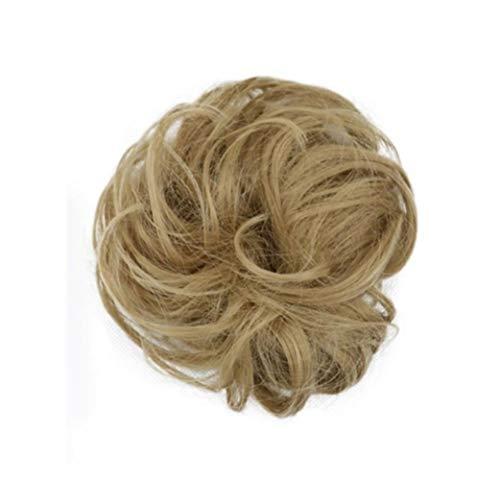 Femmes Facile à porter élastique Chignon postiche Messy Curly Bun Mix Gris naturel Chignon synthétique Extension de cheveux Chic et branché pour les femmes Cosplay Party (Color : 29)