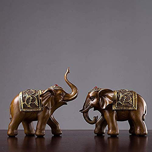 LJXLXY Decorations Art Craft Sculpture olifant woonkamer TV kast TV kast bruin