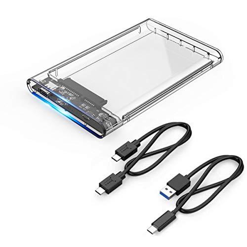 """ORICO Box USB 3.1 (10Gbps) per Hard Disk da 2,5 Pollici - Case Esterno USB C per Disco Rigido da 2,5"""" SATA SSD/HDD - Cavo USB-A e USB C"""