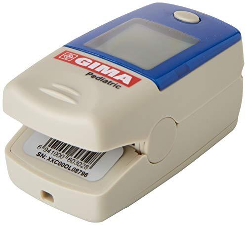 GIMA SATURIMETRO Oxy-5 Pediatrico, Pulsoximetro da Dito, Diametro 8-16 mm, Portatile, Rileva...