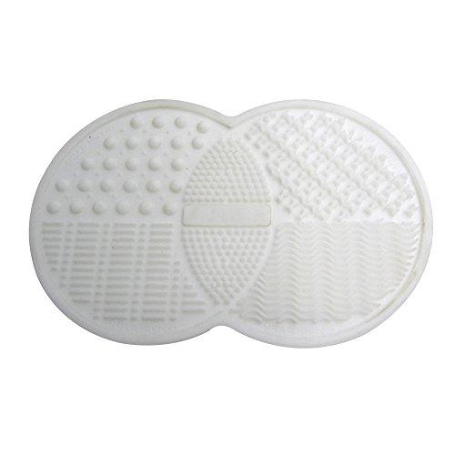 Contever® MakeUp Brosse Nettoyage Silicone Mat avec Tampons Sucker (Blanc)