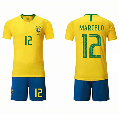 COOLBOY Marcelo#12 Mens Football Jersey T-Shirt - Youth Boys' Soccer Jerseys Sports Team Training Uniform,M