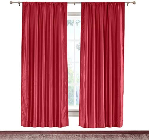 cololeaf Opening large release sale Blackout Thermal Insulated Faux Curtain Silk Shipping included Rod Pocket