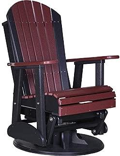 LuxCraft Recycled Plastic 2' Adirondack Swivel Glider Chair