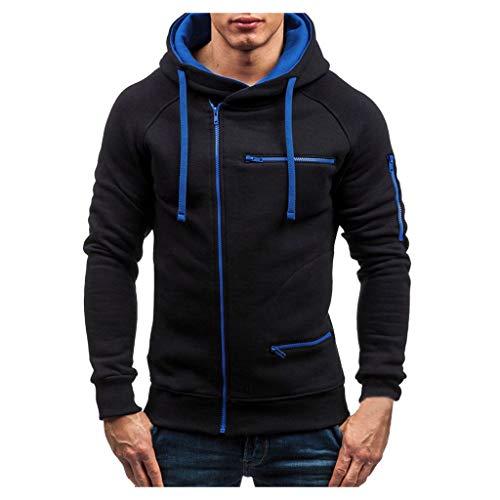 ReooLy Homme Couple Chaud Fermeture à glissière Solide Pied de col à Manches Longues Sport extérieur Manteau Outwear