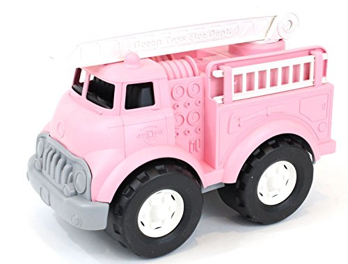 Green Toys Fire Truck Vehicle Toy, Pink