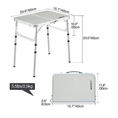 redcamp aluminum roll up table - redcamp aluminum roll up table