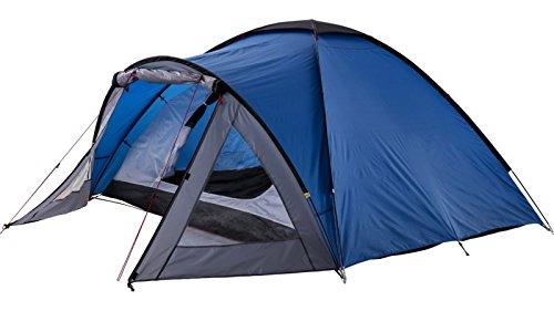 McKinley Kalari 4 Campingzelt (Farbe: 900 blau/anthrazit/dunkelgrau)