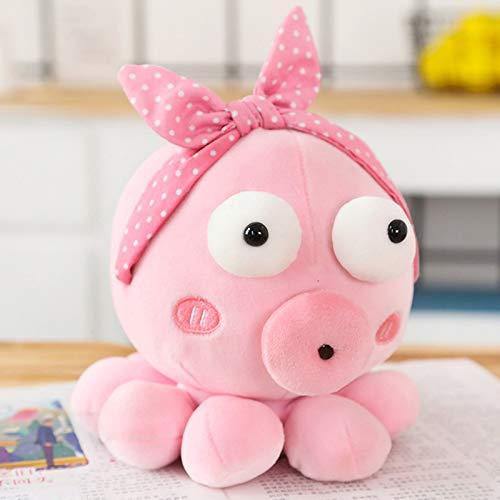 Mooie Cosplay Octopus Knuffels, Gevulde Octopus Poppen, Kinderen Kinderen Baby Verjaardag Valentijnsdag Presenteert 25Cm (Roze)