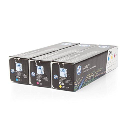 Original HP CF341A / 126A, 3x Premium Drucker-Kartusche, Cyan, Magenta, Gelb, 1000 Seiten