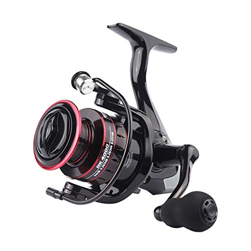 GSAGJyec Carrete de Pesca, carretes de Hilado de Pesca 8kg MAX Drag 5.2: 1 Carrete de Pesca de Carpa de Carpa de Metal de Alta Velocidad Carrete de Pesca de Agua Salada para Spinning