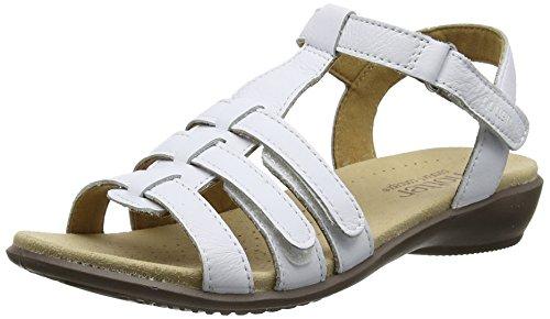 Hotter Sol Sandalias de Gladiador Mujer, Blanco (White), 43 EU (9 UK)