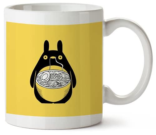 My Neighbor Totoro Ramen Food Fan_KK017526 Funny Mug 325ml Coffee Tea Funny Novelty Mug Ceramic White Great Gift Idea Meme Cup