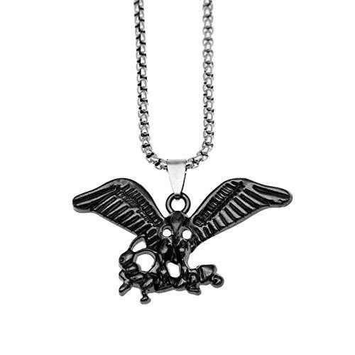 LKYH Collar de águila con alas extendidas, joyería Personalizada para Hombre, Accesorios con Colgante de águila, Cadena de suéter
