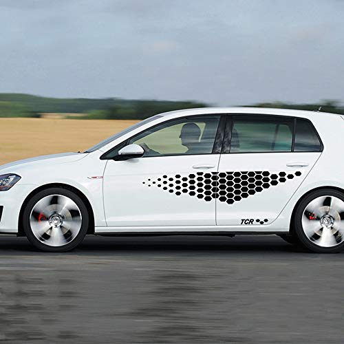 HLLebw Auto Seitenstreifen Seitenaufkleber Aufkleber, für VW Golf 4 5 6 7 MK4 MK5 MK3 MK2 MK7 Polo