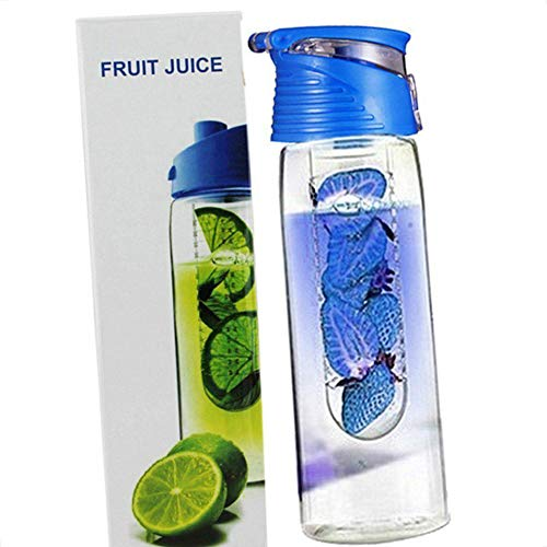 rongweiwang 800 Milliliter Frucht Infusing Wasserflasche mit Obst Infuser Infuser Flasche Obst und Flip Lid Zitronensaft Make-Flasche