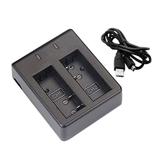 GMN Cargador Dual USB portátil para cámara de acción Deportiva Eken H9 H9 Pro Moda