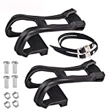 JIAHE Bicycle Toe Clips with Adjustable Straps, Anti-Slip Bicycle Toe Clip Belt Cycling Accessories for Fixed Bike, BMX,...