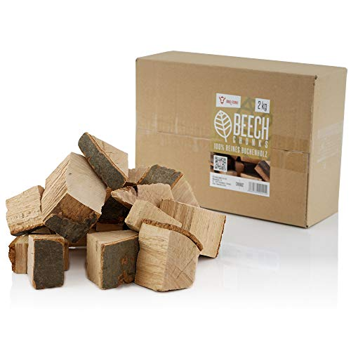 BBQ-Toro Buchen Chunks Räucherchunks | 2 kg | rauchintensive Holzchunks aus Buche | Räucherklötze für Gasgrill, Smoker, BBQ (2)