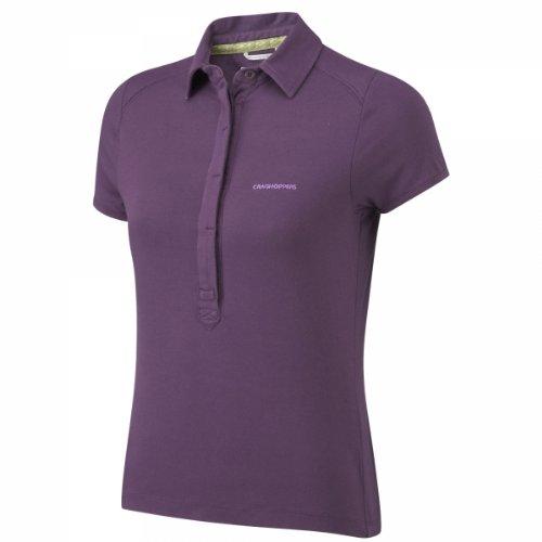 Craghoppers NL Gabriela t-Shirt Fonctionnel pour Femme 36 Violet - Prune foncé