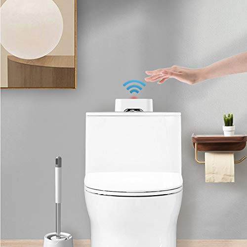 Live Trend Touchless Toilet Flush - White, Waterproof, Portable, Battery-Operated Infrared Urinal Sensor w/ USB Cable | Flushing Kit