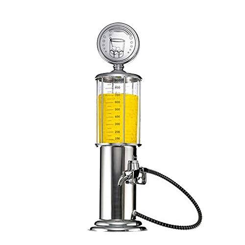 MOMIN Soporte de dispensación de Cerveza Solo cañón Cerveza Maquina expendedora de Cerveza dispensador de la Bebida Gadgets de Fiesta (Color : Silver, Size : 11.5x11.5x48cm)