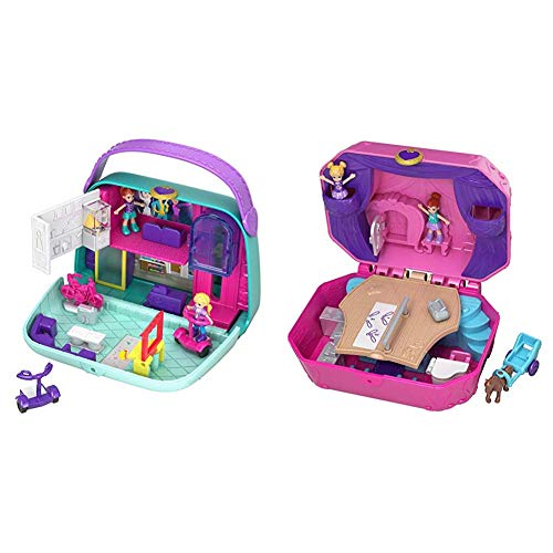 Polly Pocket GCJ86 World Einkaufszentrum Schatulle & GCJ88 World Ballettbühne Schatulle